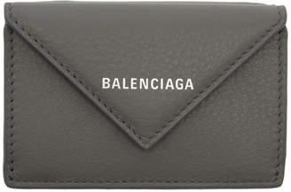 Balenciaga Grey Mini Papier Wallet