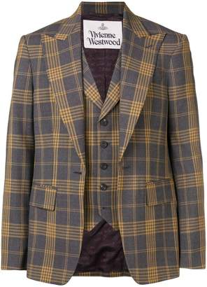 Vivienne Westwood layered check jacket