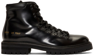 Common Projects Woman By Woman by Black Hiking Boots