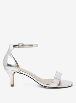 119d3e050e99 Dorothy Perkins Womens Wide Fit Silver  Sunset  Kitten Heel Sandals