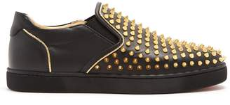 Christian Louboutin Sailor Boat stud-embellished slip-on trainers
