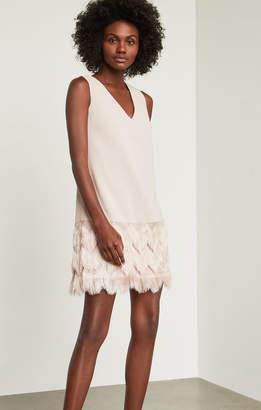 BCBGMAXAZRIA Addilyn Fringe Dress