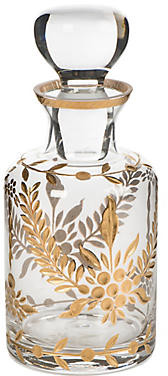 "8"" Decorative Glass Jar - Gold/Clear - Bradburn Home"