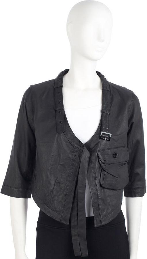 Fifth Avenue Shoe Repair Indoor Leather Jacket - Black