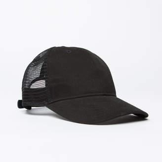 DSTLD Twill Trucker Hat in Black