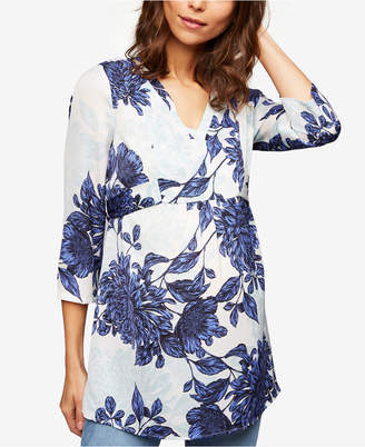 A Pea in the Pod Maternity Printed Tie-Back Tunic