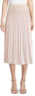 Agnona Merino Wool Pleated Skirt