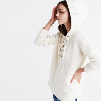 Lace-Up Hoodie Sweater $128 thestylecure.com
