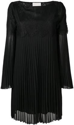 Aniye By lace insert pleated dress