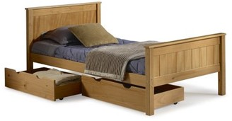 Alaterre Harmony Twin Bed with Storage Drawers, Cinnamon