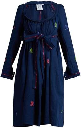 Thierry Colson Rosine floral-embroidered cotton dress