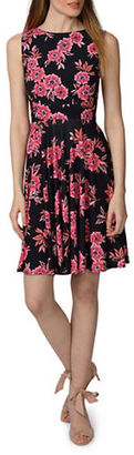 Donna Morgan Printed Fit and Flare Dress $98 thestylecure.com