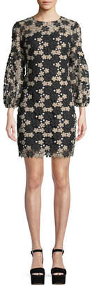 Shoshanna Vina Floral Lace Mini Dress