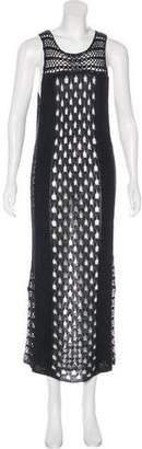 AllSaints Linen Open Knit Dress