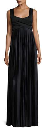 The Row Alain Pleated Sleeveless Gown, Black