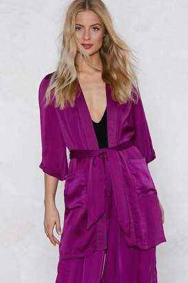 Nasty Gal If You Never Tie You'll Never Know Satin Kimono