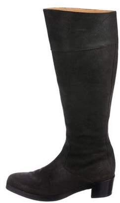 Balenciaga Leather Square-Toe Boots Leather Square-Toe Boots