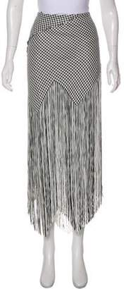 Proenza Schouler Fringe-Accented Maxi Skirt w/ Tags