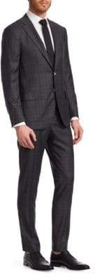 Isaia Two-Piece Wool Plaid Suit