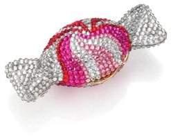 Judith Leiber Couture Swarovski Crystal Swirl Candy Pill Box
