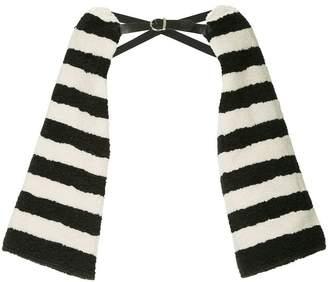 Tu Es Mon Trésor striped faux fur arm cover