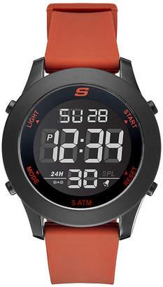 Skechers Rosencrans Digital Oversize Mens Red Strap Watch-Sr5109