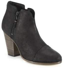 Rag & Bone Margot Waxed Suede Zip Booties