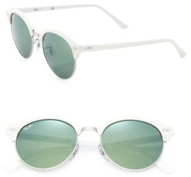 Ray-Ban 51MM Mirrored Round Metal Sunglasses $160 thestylecure.com