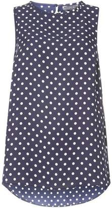 Dorothy Perkins Womens **Tall Navy Spotted Built Up Top