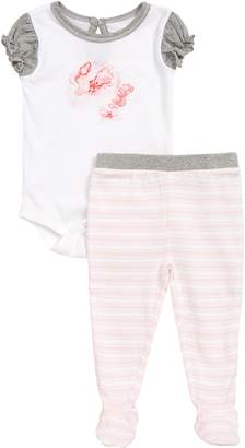 Burt's Bees Baby Butterfly Escape Organic Cotton Bodysuit & Footed Leggings Set