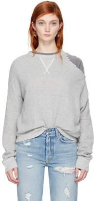 R 13 Grey Distorted Sweatshirt