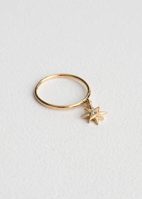 Dangling Star Charm Ring