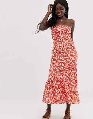 1610b432126 Bandeau Floral Maxi Dress - ShopStyle UK