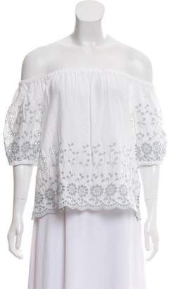 See by Chloe Off-The-Shoulder Eyelet Top