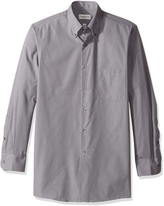 Van Heusen Men's Dress Shirts Regular Fit Silky Poplin Solid