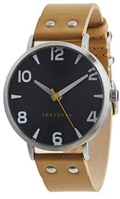 Tokyobay Tokyo Bay T626-BK Women's Stainless Steel Leather Band Dial Watch