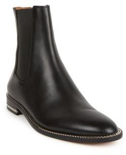 Givenchy Leather Chain-Trimmed Chelsea Boots