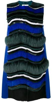 Fendi wave pattern gilet