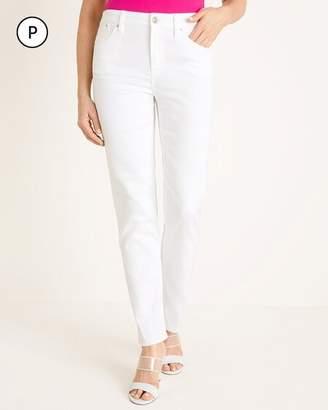 Chico's Chicos Petite No-Stain White Slim Boyfriend Ankle Jeans