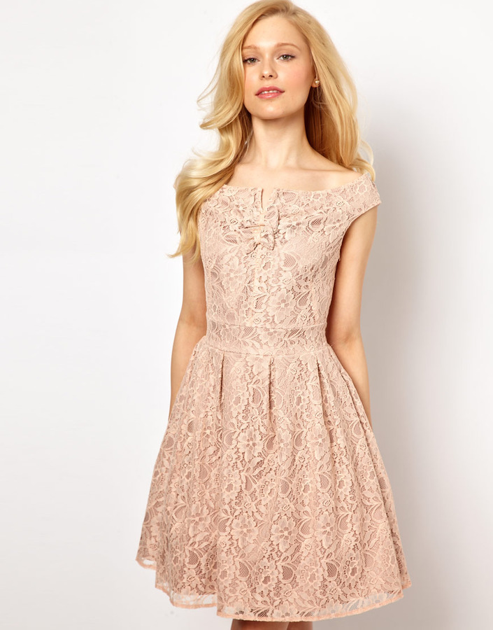 Lydia Bright Prom Dress in Lace