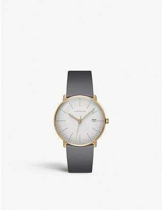 Junghans 047/7853.00 Max Bill Ladies stainless steel and leather watch