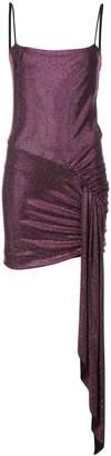 Alexandre Vauthier crystal embellished draped mini dress