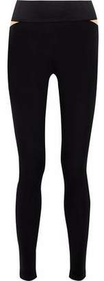 Koral Two-Tone Stretch-Jersey Leggings