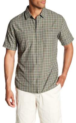 Quiksilver Waterman Collection Wake Plaid Short Sleeve Regular Fit Shirt