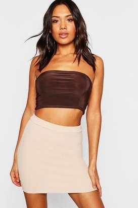 boohoo Crepe Micro Mini Skirt