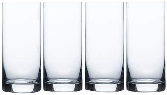 Mikasa Laura Set of 4 Crystal Highball Glasses