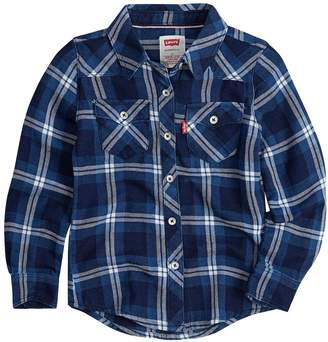 Levi's Levis Toddler Girl Western Plaid Shirt