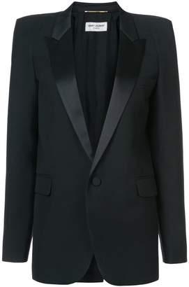 Saint Laurent square cut tux jacket