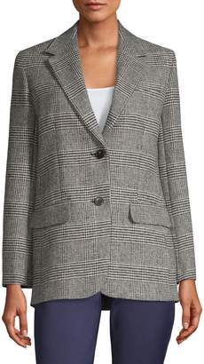 Max Mara Glen-Plaid Wool-Blend Jacket