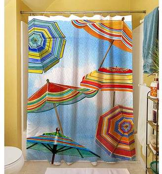 "Thumbprintz Blue Skies Umbrellas Shower Curtain, 71"" x 74"""